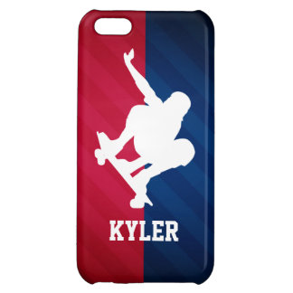 Skater; Red, White, and Blue Case For iPhone 5C