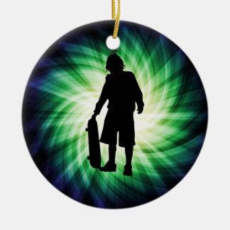 Skater; Skateboard Christmas Ornament
