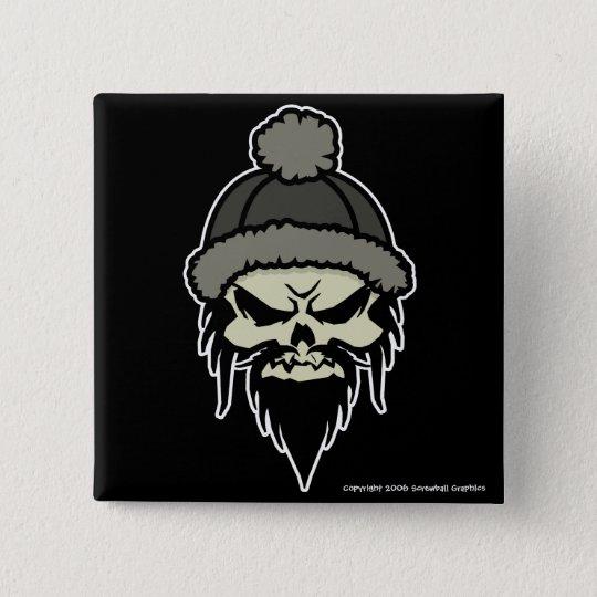 Skater Skull Button