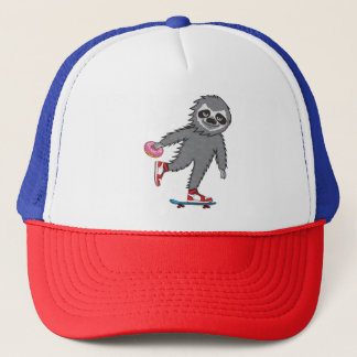Skater Sloth Trucker Hat