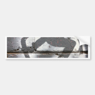 Skater Stencil wall art in greys and white Bumper Stickers