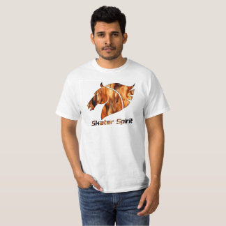 Skater T-shirt in Weis with fiery logo