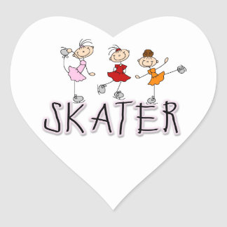 Skater T-shirts and Gifts Heart Sticker