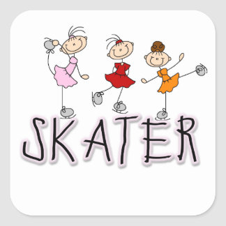 Skater T-shirts and Gifts Square Stickers