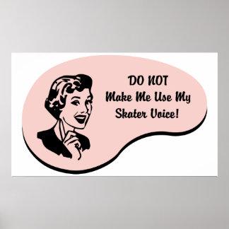 Skater Voice Poster