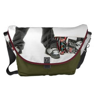 Skater with Boombox - Large Rickshaw Messenger Commuter Bag