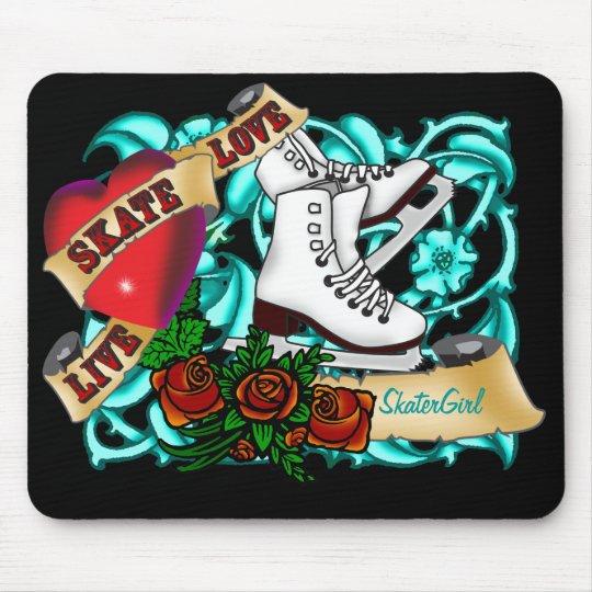 SkaterGirl Tattoo Mousepad