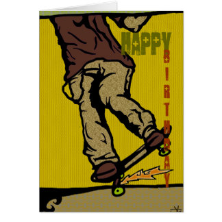 skaters2 Happy Birthday Greeting Cards