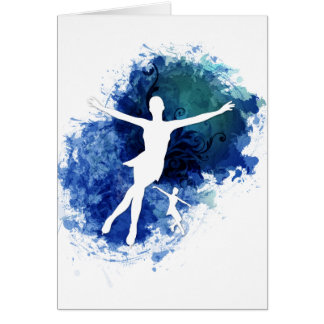 Skaters Blue Background Card
