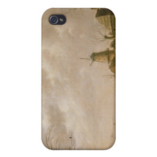 Skaters on a Frozen Canal, 1779 Covers For iPhone 4