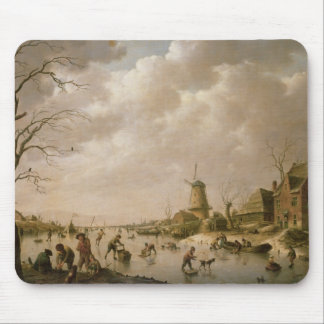Skaters on a Frozen Canal, 1779 Mouse Mat