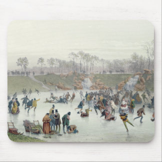 Skaters on the Lake at Bois de Boulogne Mouse Mat