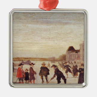 Skaters on the Seine in 1608 Christmas Ornament