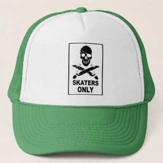 Skaters only trucker hat