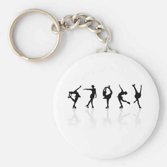 Skaters & Reflections Basic Round Button Key Ring