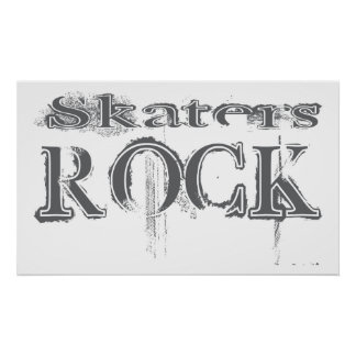 Skaters Rock Poster