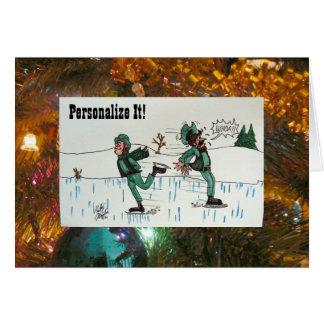 Skater's Waltz Greeting Card