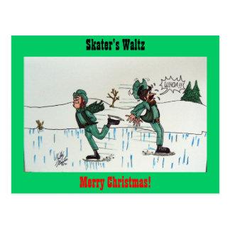 Skater's Waltz Postcard