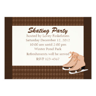 Skates and Tweed Personalized Announcements