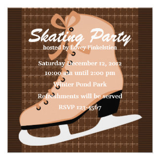 Skates and Tweed Custom Announcements