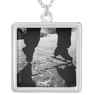 Skates Silhouette Necklace