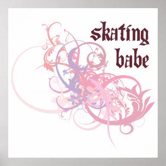 Skating Babe Poster