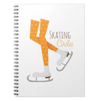 Skating Circles Spiral Notebooks