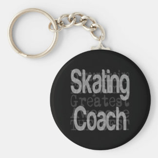 Skating Coach Extraordinaire Basic Round Button Key Ring