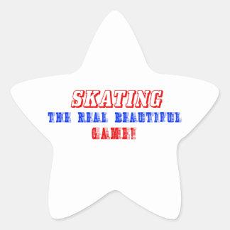 skating design star sticker