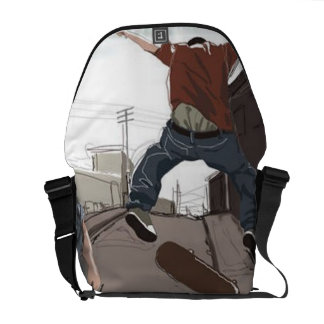 Skating in the Street Messenger Bags