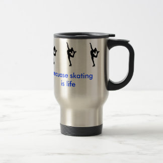 Skating is a way of life travel mug