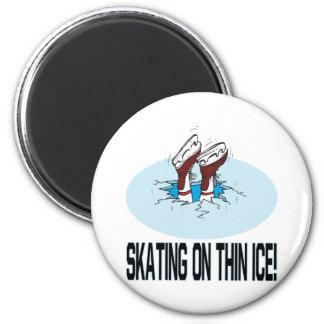 Skating On Thin Ice 6 Cm Round Magnet