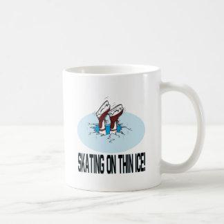 Skating On Thin Ice Basic White Mug