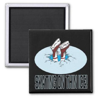 Skating On Thin Ice Fridge Magnet