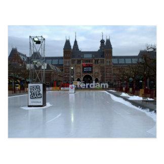 Skating rink, Museumplein, Amsterdam Postcard