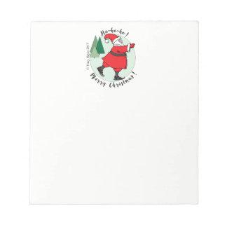 Skating Santa note pad
