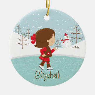Skating Skater Girl Dated Christmas Ornament