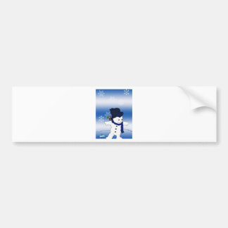 Skating Snowman Bumper Sticker