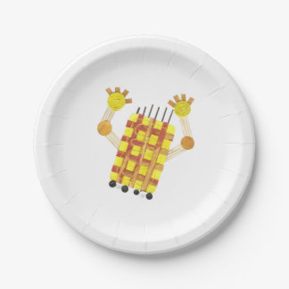 Skating Soap Paper Plate 7 Inch Paper Plate