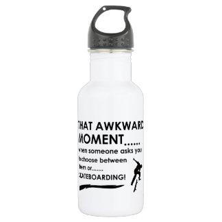 Skating Sports Designs 532 Ml Water Bottle