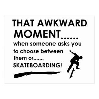 Skating Sports Designs Postcard