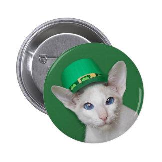 Skeezix McCat St Patrick s Day Button