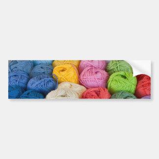 Skeins of yarn bumper sticker