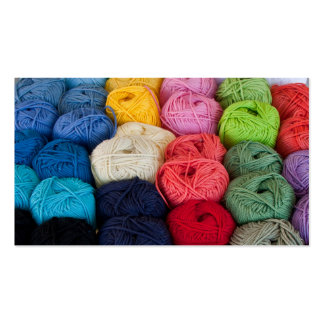 Skeins of yarn business card templates