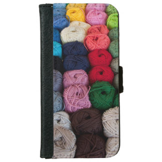 Skeins of yarn iPhone 6 wallet case