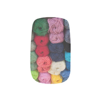 Skeins of yarn minx nail art