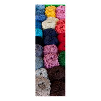 Skeins of yarn pack of skinny business cards