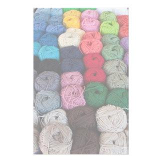 Skeins of yarn custom stationery