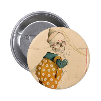 Skeletal Clown 6 Cm Round Badge