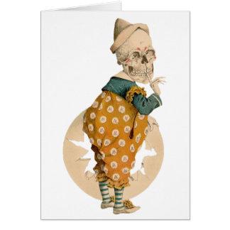 Skeletal Clown Card